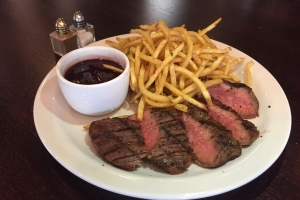 Bavette and French Fries