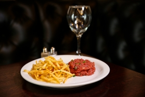 Beef Tartare and French Fries