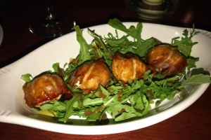 Fig Stuffed with Goat Cheese and Wrapped in Proscuitto